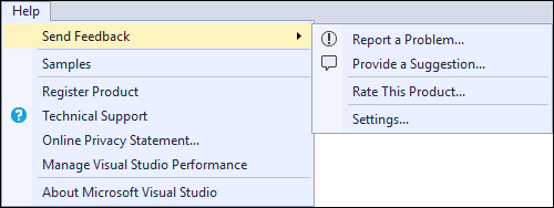 Visual Studio 2017 RC Send Feedback