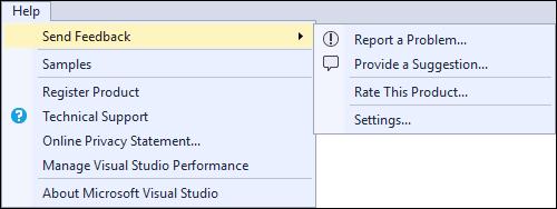 Visual Studio 2017 RC Send Feedback
