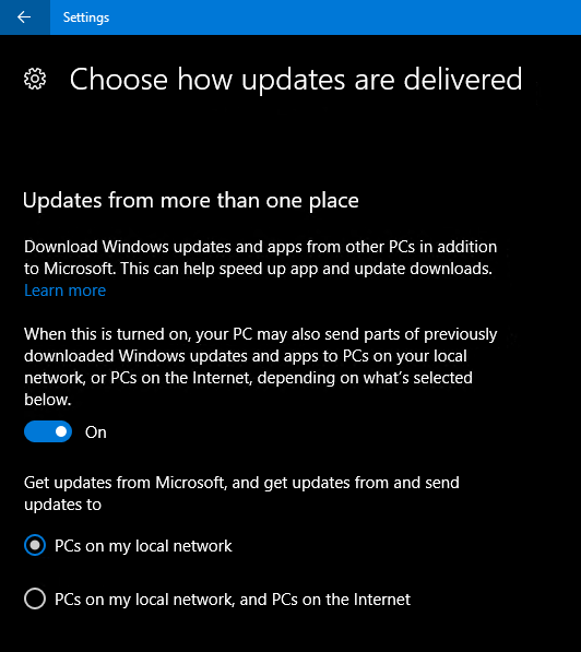 Windows 10 and Updates